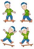 Skateboard-vierfache Leitung stock abbildung