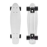 Skateboard, weißer Hintergrund Lizenzfreie Stockbilder