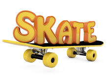 Skateboard and word Stock Image