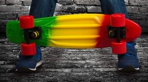 Skateboardclose-up Extreme sporten Stock Foto's