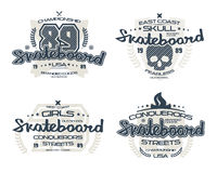 Skateboardembleme für T-Shirt Lizenzfreie Stockfotos