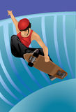 The Skateboarder Stock Photo