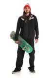 skateboarder στεμένος Στοκ Εικόνα