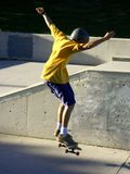 Skateboarder. Teen boy doing tricks,some movement on the boy stock photo