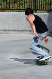 Skateboarder. At a skate park Royalty Free Stock Photo
