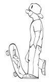 Skateboarder vector illustratie