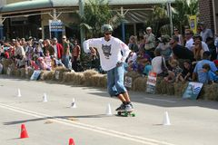 Skateboarder. A skateboarder taking part in a competition in a small town in Australia Royalty Free Stock Photography