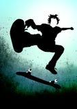 Skateboarder. Vector Skateboarder on dirty background Royalty Free Stock Photography