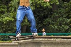 skateboarder Arkivfoto