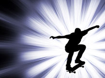 Skateboarder on the abstract background Stock Photos