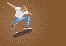 Skateboarder in action. Illustration Stock Photos