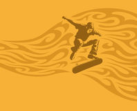 Skateboarder in action Stock Images
