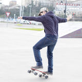 Skateboarder in action. Royalty Free Stock Photos
