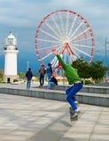Skateboarder, Batumi, Georgia Royalty Free Stock Photo