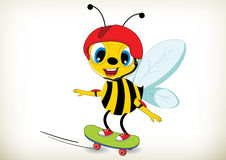 Skateboarder Bee Royalty Free Stock Images