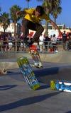 Skateboarder bij het Strand van Venetië, CA royalty-vrije stock afbeeldingen