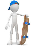 Skateboarder with blue cap. Skateboarder with cap and skateboard Vector Illustration