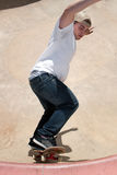 Skateboarder In a Bowl Stock Photo