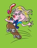 Skateboarder Cartoon Stock Images