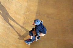 Skateboarder coming stock photos