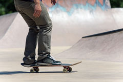 Skateboarder on the Concrete Skate Royalty Free Stock Photos