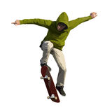 Skateboarder doing a jumping trick Royalty Free Stock Images