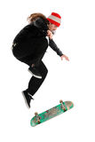Skateboarder doing a trick Royalty Free Stock Photo