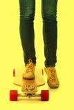 Skateboarder feet Stock Photography