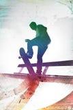 Skateboarder Grungy Immagini Stock Libere da Diritti