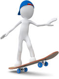 Skateboarder. Guy with blue cap on skateboard Vector Illustration