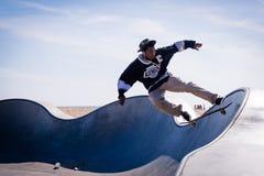 Skateboarder, het Strand van Venetië, Los Angeles stock foto's