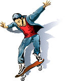 The Skateboarder Stock Image