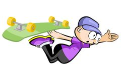 Skateboarder isolated doing a jumping Stock Images