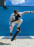 Skateboarder in jump Royalty Free Stock Images