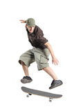 A skateboarder jumping Royalty Free Stock Photography