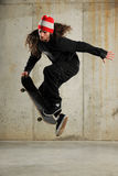 Skateboarder Jumping Stock Photo