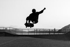 Skateboarder Jumping Stock Photos