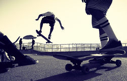Skateboarder Jumping Royalty Free Stock Image