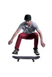 Skateboarder jumping high Royalty Free Stock Photography