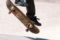 Skateboarder Jumping Tricks Stock Images