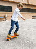 Skateboarder kid Royalty Free Stock Photography