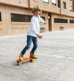 Skateboarder kid Royalty Free Stock Photo