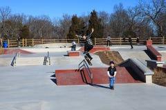 Skateboarder at Lake Fairfax Skatepark Reston Virginia Royalty Free Stock Photo
