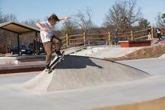 Skateboarder at Lake Fairfax Skatepark Reston Virginia Stock Photo