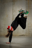 Skateboarder performing tricks Royalty Free Stock Photo