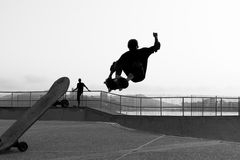 Skateboarder playing Stock Photo