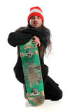 Skateboarder Posing With Board Stock Photo