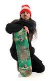 Skateboarder Posing With Board Stock Photo