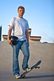 Skateboarder Posing Full body shot Stock Photo