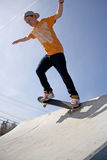 Skateboarder on a Ramp Stock Photos